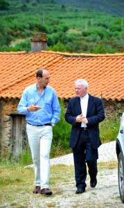 Luis Celinio, presidente do CEL e D. Manuel Felicio, bispo da Guarda