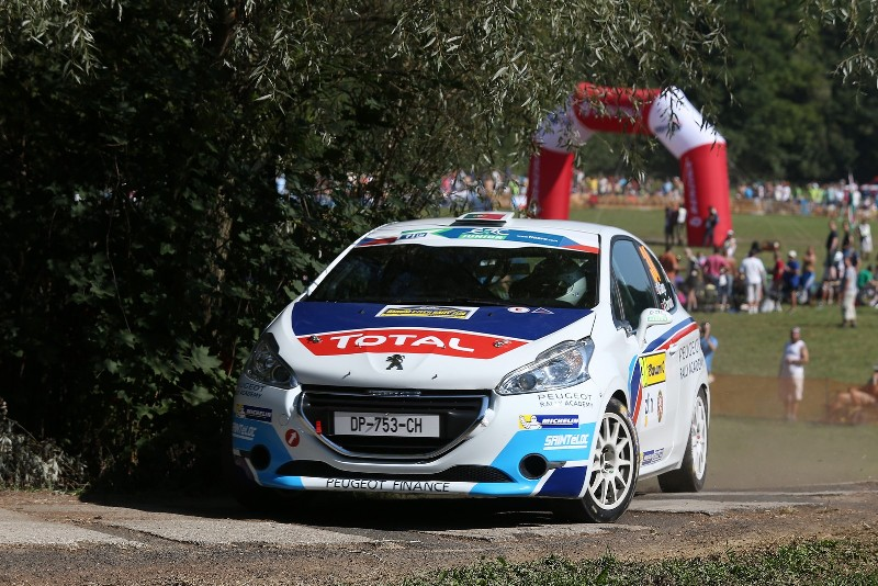 34 GAGO Diogo CARVALHO Jorge Peugeot 208 R2 Action during the 2015 European Rally Championship ERC Barum rally,  from August 27 to 30th, at Zlin, Czech Republic. Photo Gregory Lenormand / DPPI