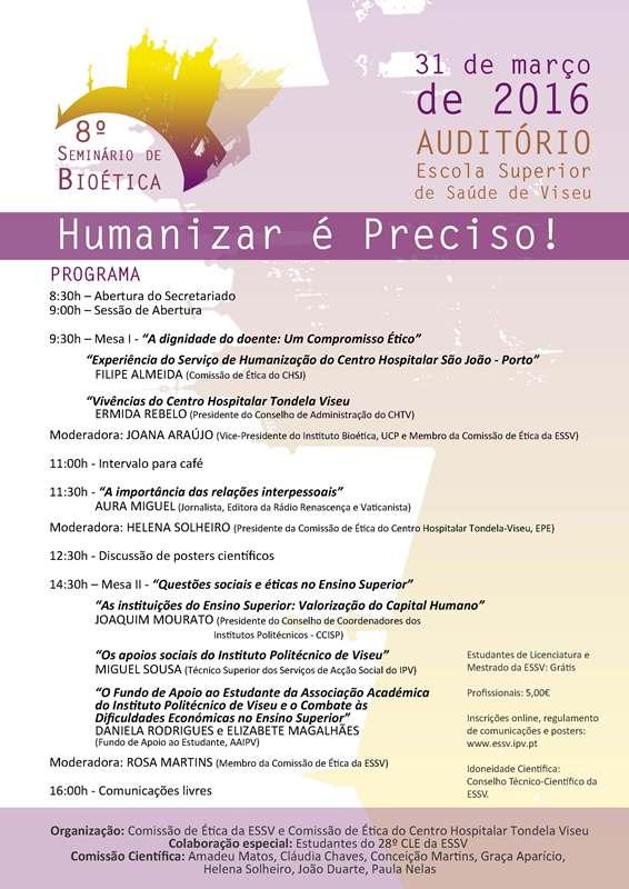 Informação IPV_8º Seminário Bioética