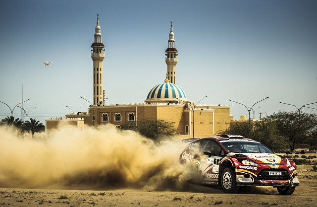 Nasser Saleh Al-Attiyah on his way to winning the Kuwait International Rally for the fifth time in 2015.