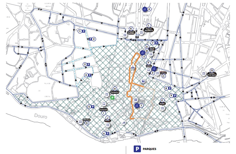 wrc cidade porto mapa