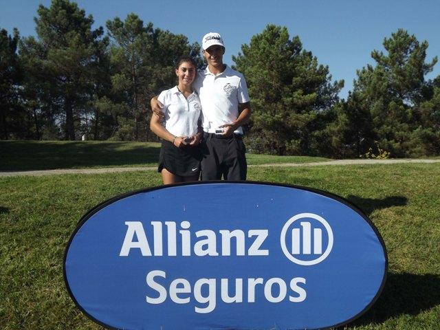 Joana Silveira e Pedro Lencart vencedores do 5º Torneio do Circuito Allianz, por Rui Frazão-FPG-LR