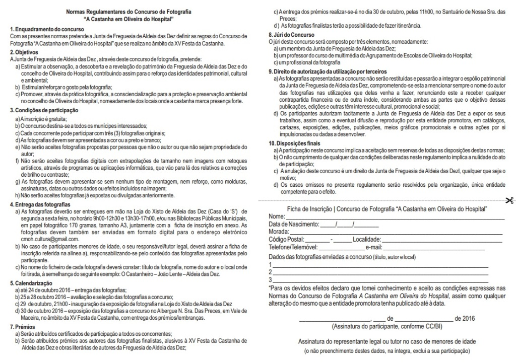 Regulamento Con Fotografia CMOH