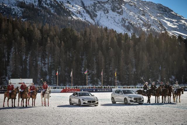 Maserati Car Parade Snow Polo St Moritz Sunday 3