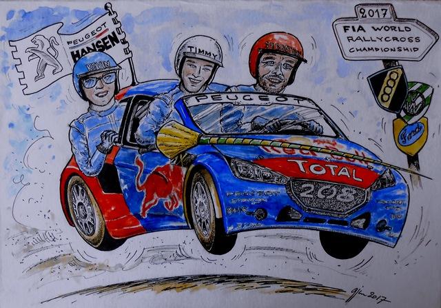 Ralycross Desenho Peugeot Rallycross