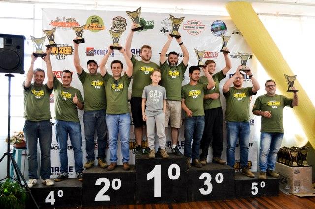 Pódio Categoria A Copa Scherer (Crédito Divulgação Copa Scherer)