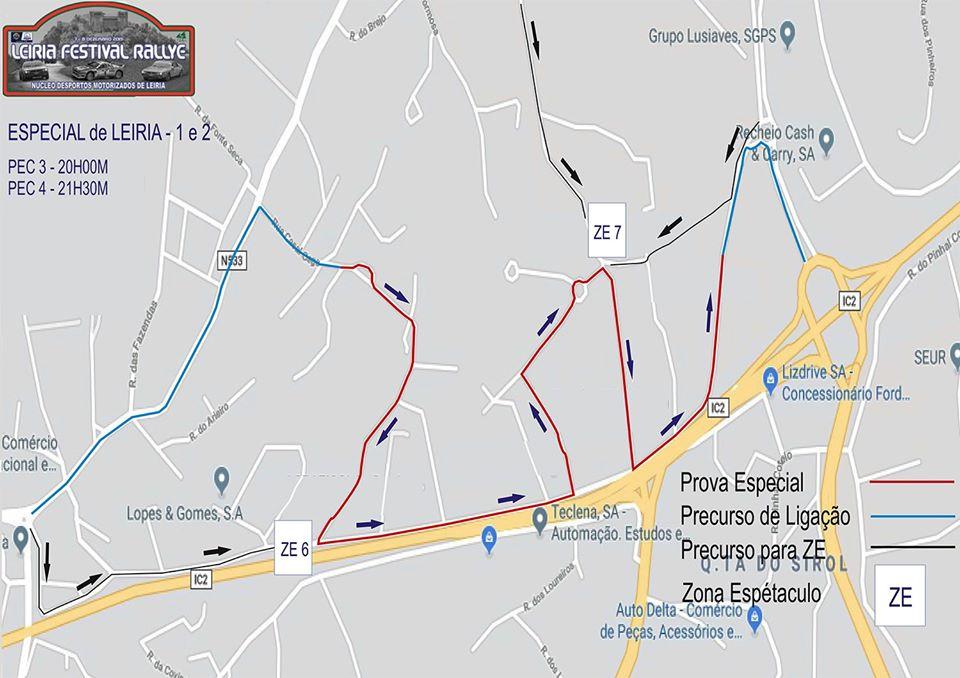 Mapa Especial de Leiria